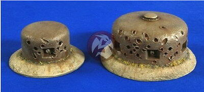 Verlinden 1/35 VP 2699 German Bunker MG Towers with Bullet holes