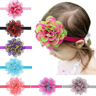 Newest Toddler Newborn Baby Girl Lace Flower Headband Hair Band Hair Accessories