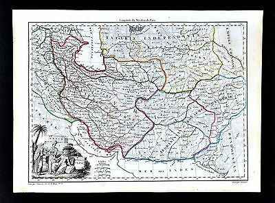1812 Malte Brun Map Persia Iran Ottoman Empire Iraq Afghanistan - Middle East