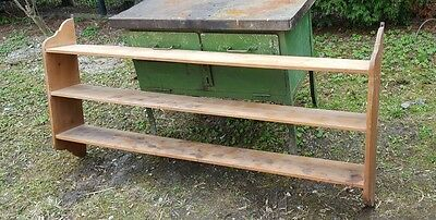 Seltenes riesiges Regal Wandregal Holz Weichholz