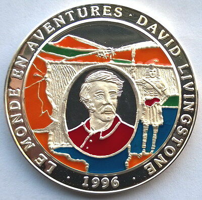 Congo 1996 David Livingstone 1000 Francs 1oz Silver Coin,Proof