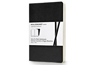 Moleskine Volant Notebook (Set of 2 ), Pocket, Plain, Black (3.5 X 5.5) by Moles
