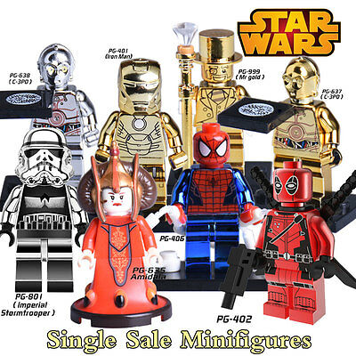 MINI FIGURINES Star Wars - Mr Gold, Iron Man, Amidala.....