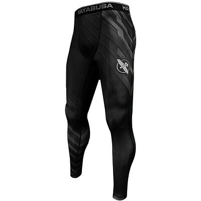 Hayabusa Metaru Charged Full Length MMA Compression Pants - Black/Gray