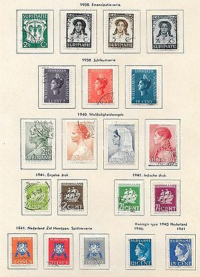 Surinam stamps 1938 Collection of 20 stamps  CAT VALUE $105