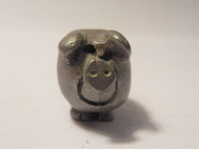 Miniature Pewter Rolly Polly Pig Country Farm Animals