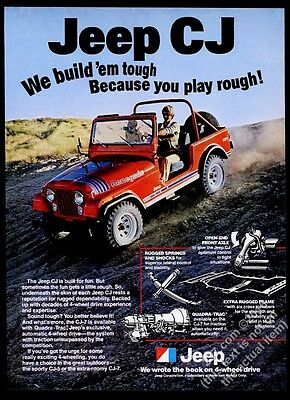 1979 Jeep Renegade CJ red SUV photo vintage print ad