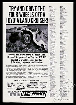 1964 Toyota Land Cruiser SUV photo Muscle and Brawn vintage print ad