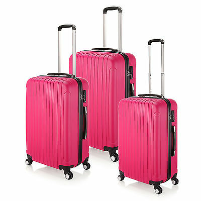 """20"""" 24"""" 28"""" Hard Shell Rose Red Travel Luggage ,4 Wheel Cabin Trolley Suitcase"""