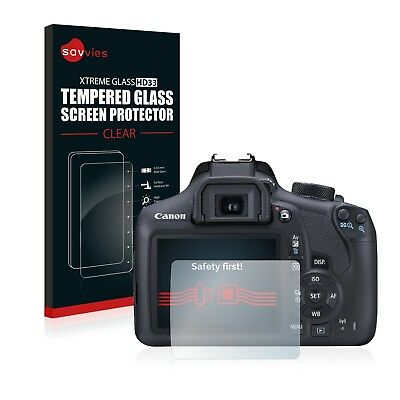 Savvies Tempered Glass Screen Protector for Canon EOS 1300D