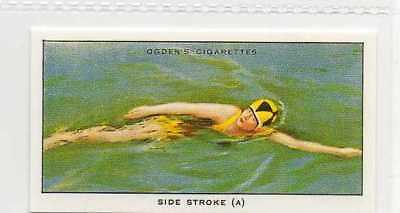 #13 side stroke (a) illustrating poise swimming r card