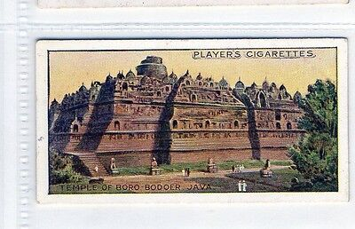#13 Temple of Boro-Bodoer, Java. - Wonders of the World 1916 Card