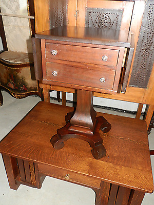Sweet Antique Empire Drop Leaf Work Table