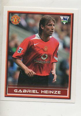 962687f5ac7  134 Gabriel Heinze Manchester United 2005 2006 football soccer sticker Card