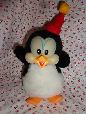 "1982 Chilly Willy Plush Penquin Stuffed Animal Walter Lantz 6"" Without Red Hat"