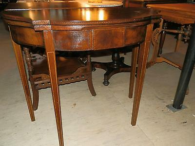 Beautiful Antique Victorian Games Table With Sweet Marquetry Inlay