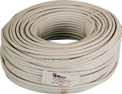 100 mt of electrical cable tripolar section 3x1 mm white rubber flexible