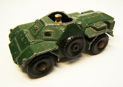 Lesney No 61, Ferret Scout Car mit Fahrerfigur, Made in England, 1950er