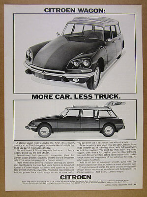 1968 Citroen Station Wagon front & side view photos vintage print Ad