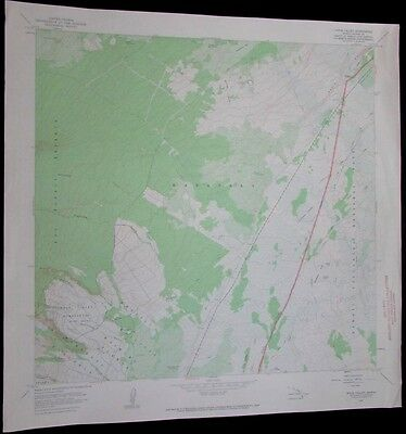 Wood Valley Hawaii Kau Forest Reserve Volcanoes vintage 1968 old USGS Topo chart