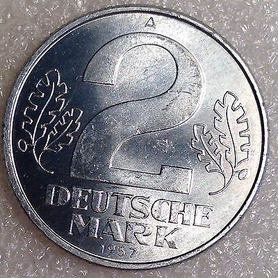 East Germany 2 Mark 1957A High Grade Coin!