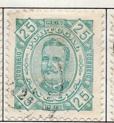 Angola 1890s Carlos Issue Fine Used 25r. 141277