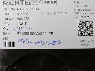 218 Pcs Richtek Rt9058-50Gx  Inductors