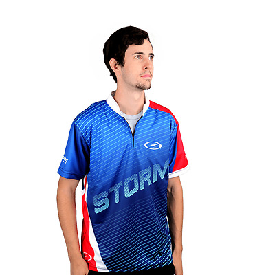 Storm Trigger Mens Bowling Jersey Blue/Red/White
