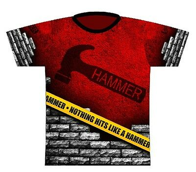 Hammer Caution Tape Dye-Sublimated Bowling Jersey