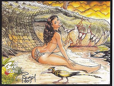 Cavewoman Lady and the Tramp Signed Nude Print by Budd Root