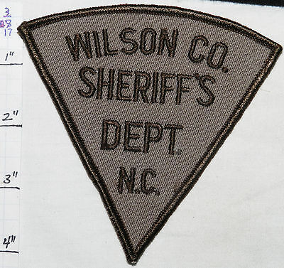 North Carolina, Wilson County Sheriff's Dept Vintage Patch