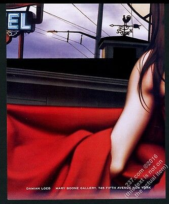 2000 Damian Loeb motel interior and sign art NYC gallery vintage print ad