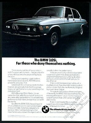 1976 BMW 3.0Si 3.0 Si car color photo vintage print ad