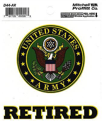 Us Army Retired Sticker - Decal - Made In The Usa!!