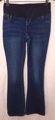 OLD NAVY Womens SLIM BOOT CUT Blue Stretch Denim Maternity Jeans (Size 6)