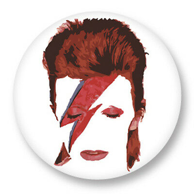 "Pin Button Badge Ø25mm 1"" Rock'n'Roll David Bowie"