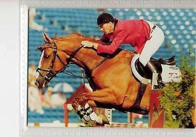 #151 Jos Lansink NED jumping equestrian collector card