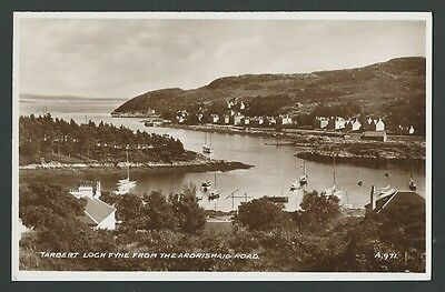 Tarbert Argyll & Bute From Ardrishaig Road c1930s Valentine Real Photo Postcard