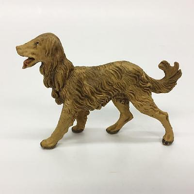 Vintage Russian Wolfhound Borzoi Afghan Hound Resin Dog Figurine Toy Made Italy