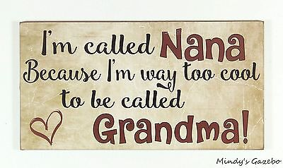 Primitive Country Wood Grandma Sign Handmade Inspirational Home Wall Decor 1255