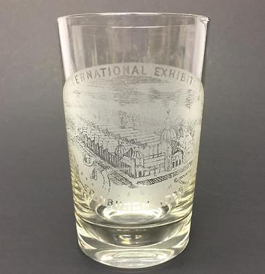 Souvenir Drinking Glass International Exhibition Edinburgh Scotland 1886