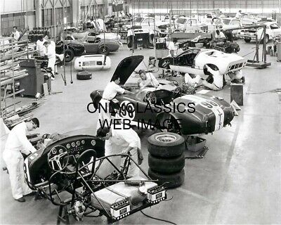 1967 Carroll Shelby Ac Cobra Mustang Assembly Line Shop Photo Muscle Pony Car