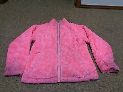 The North Face Fleece Jacket Reversible Sz L Girls Youth Hiking Sport Gray Pink