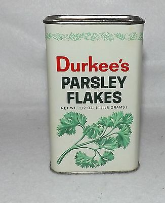 Vintage Durkee's Metal Spice Tin - Parsley Flakes - Kitchen Collectible