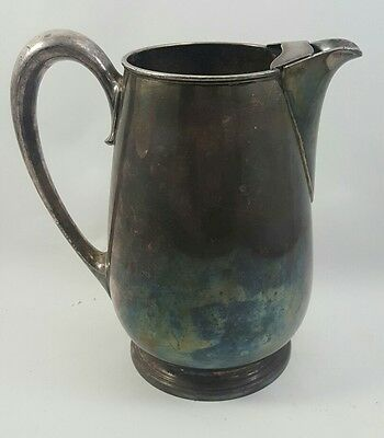 Antique SILVER PLATED PITCHER Paul Revere MERIDAN SILVERPLATE CO 973G