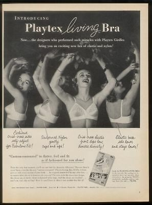 1954 Playtex Living Bra 4 woman photo vintage print ad