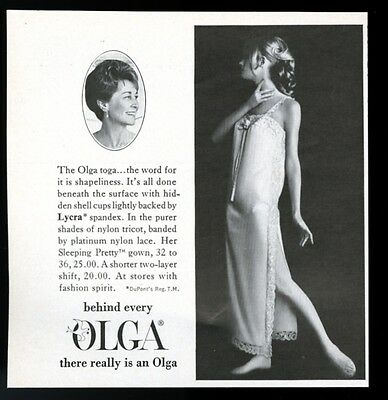 1969 Olga lingerie woman in toga photo vintage fashion print ad