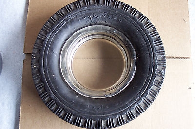 Goodyear Super Cushion Tire Ashtray With Insert