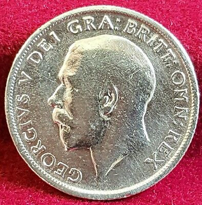 1915 Great Britain 1 Shilling .925 Sterling Silver Coin George V KM#816
