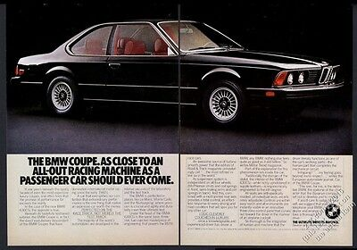 1977 BMW 630CSi 630 CSi black car photo vintage print ad